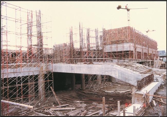 中山南路館舍新建工程結構體施工情況