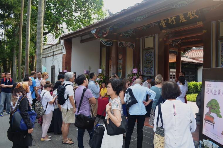 外籍學人參觀2017漢風盆景展