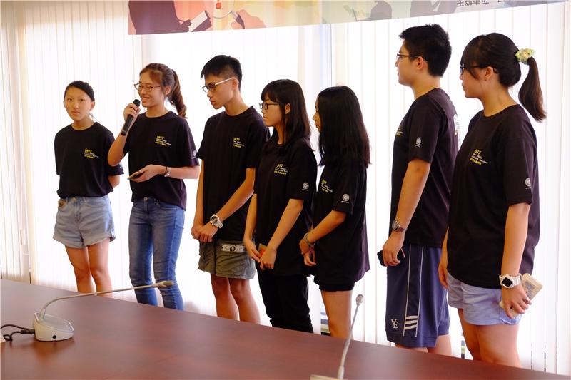 青年學者養成營學員於結業式分享感言