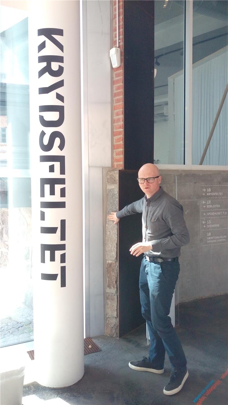 Søren Mørk Petersen館長親自導覽介紹Elsinore公共圖書館