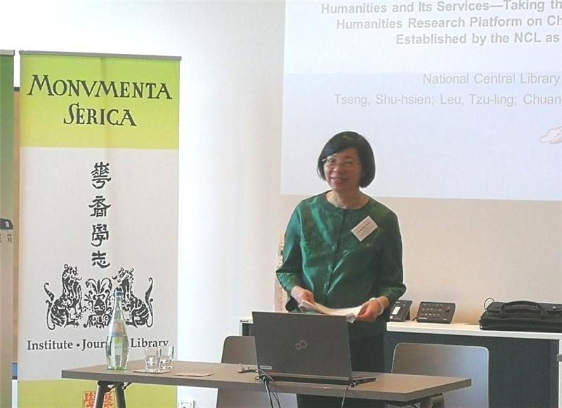 NCL Director-General Tseng reads her paper