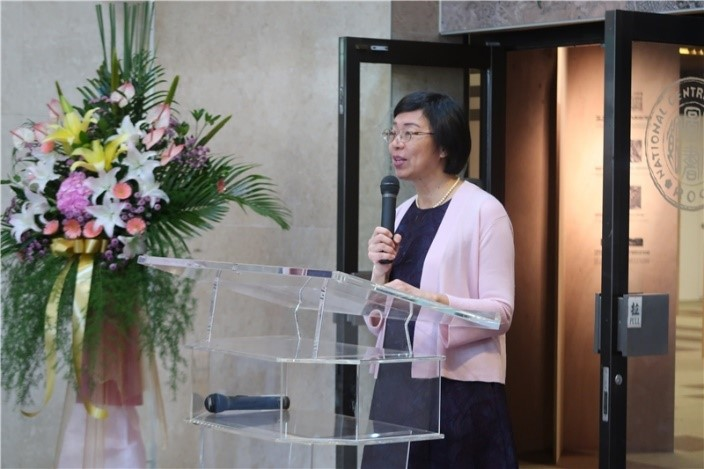 NCL Director-General Tseng makes a speech at the opening ceremony