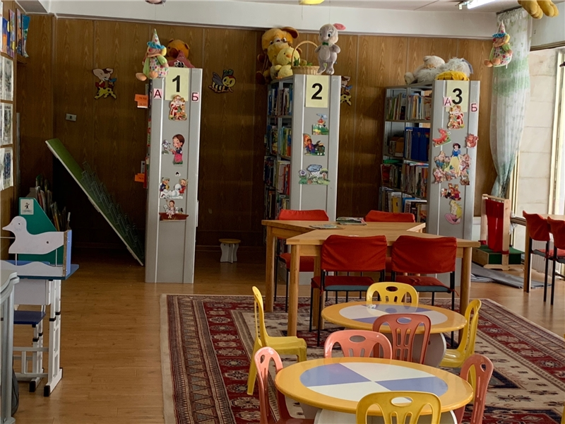充滿童趣的蒙古國立兒童圖書館閱覽室
