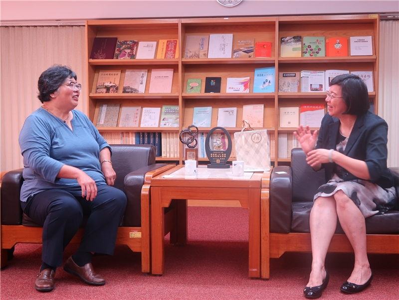 2019.07.16  Ms. Wenling Liu, Indiana University's East Asian paid a visit to Director-General Tseng