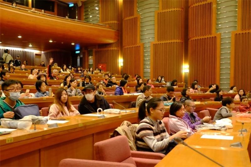 聽眾踴躍出席講座