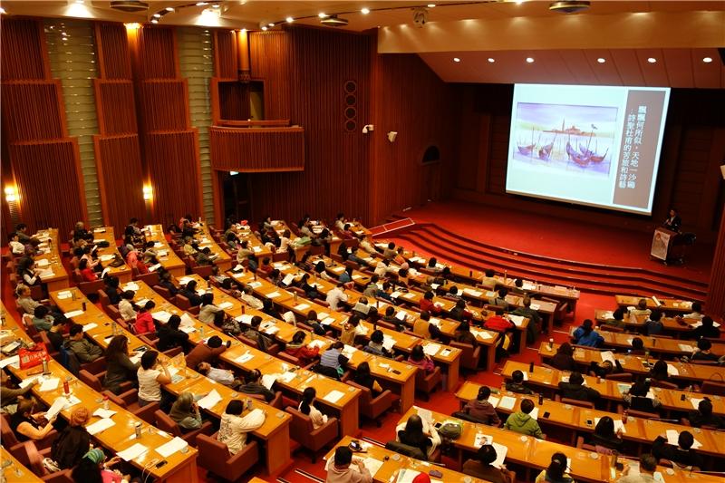 會場中坐滿了專心聆聽徐國能教授演講的讀者