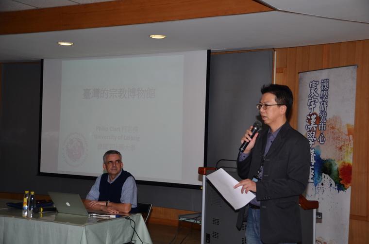 左起:柯若樸教授、黃文德組長