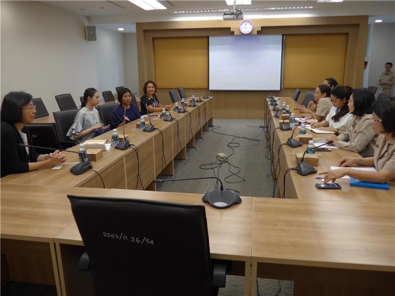 與泰國國圖座進行交流座談