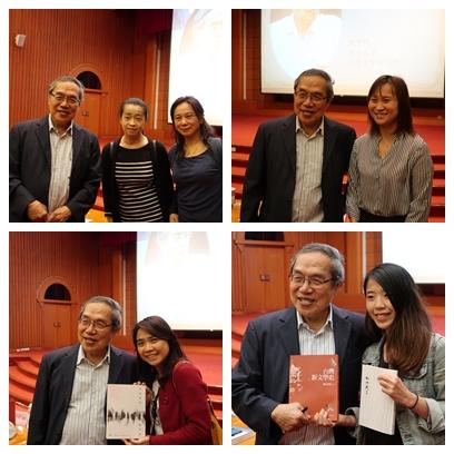 陳芳明教授與讀者合照