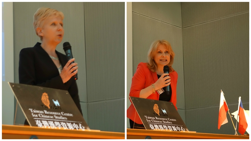亞捷隆大學語言學院副院長Dr hab. Dorota Szumska(左)、東方研究所所長Prof. dr hab. Barbara Michalak-Pikulska (右)致詞