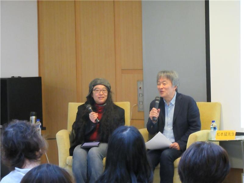 圖3:松本猛先生(右)以及張東君老師(左)為在場民眾帶來精采演說