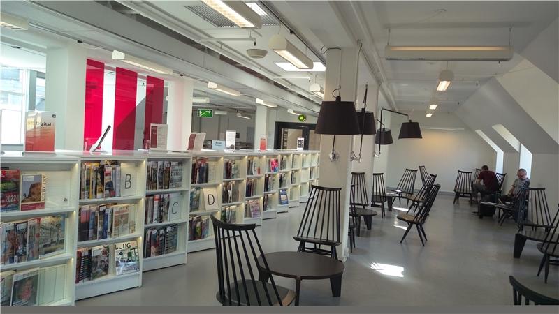 哥本哈根市立圖書館總館提供寬敞的閱讀空間