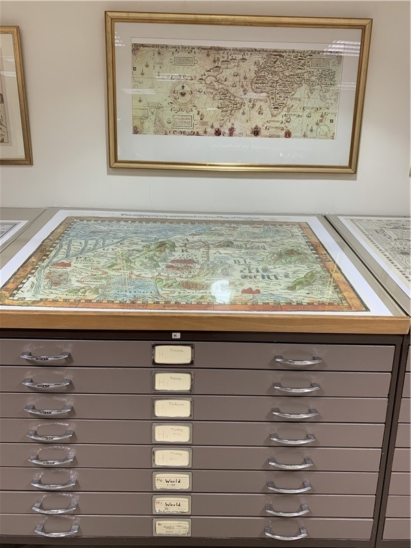 The National Library of Israel has a large collection of maps