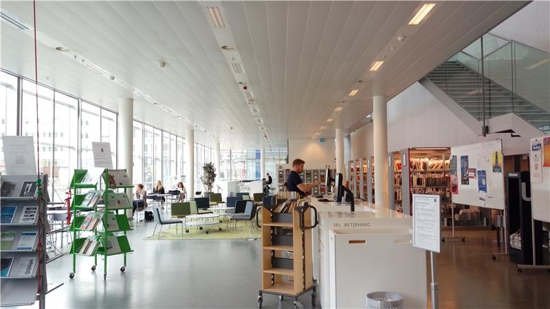 哥本哈根大學人文學院圖書館閱覽室