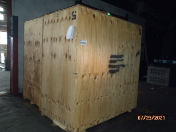 Two large wooden boxes of books arrived in Keelung on July 23.