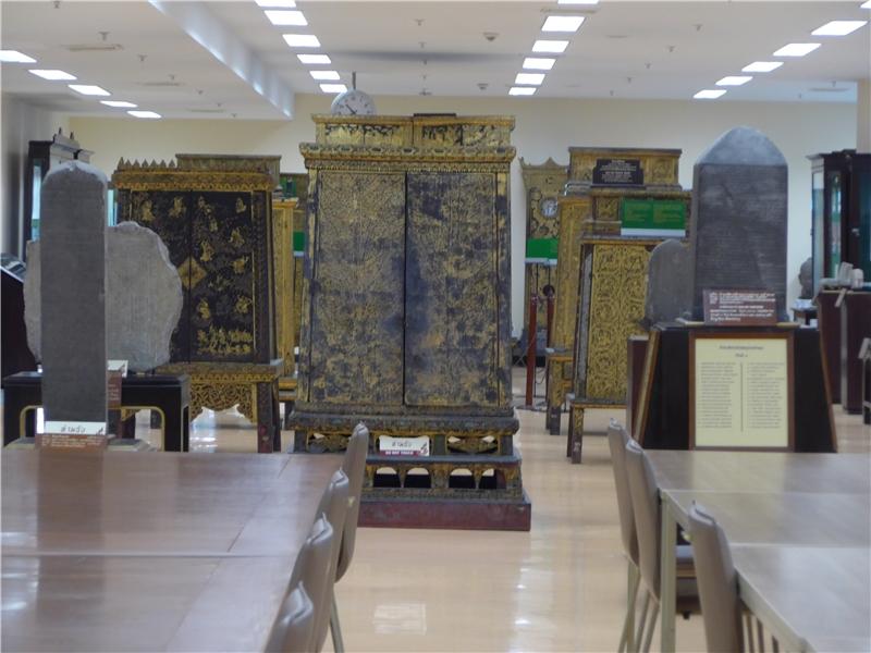 泰國國圖收藏刻有各種古老文字的石碑