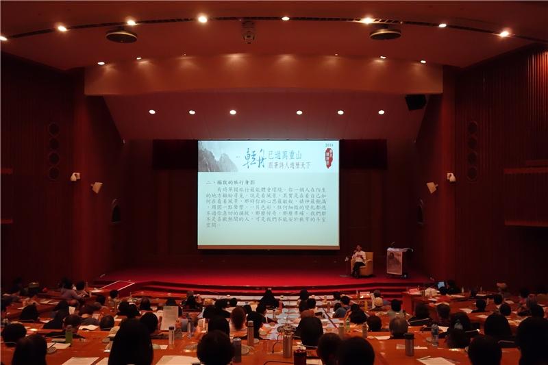 陳義芝老師為民眾帶來精采演說2