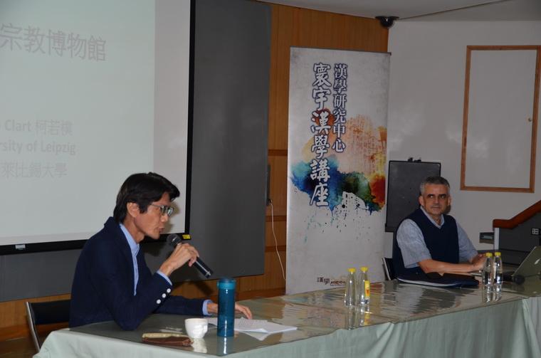 左起:謝世維教授、柯若樸教授