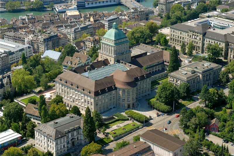 Bird's Eye View of the UZH Main Campus Area.