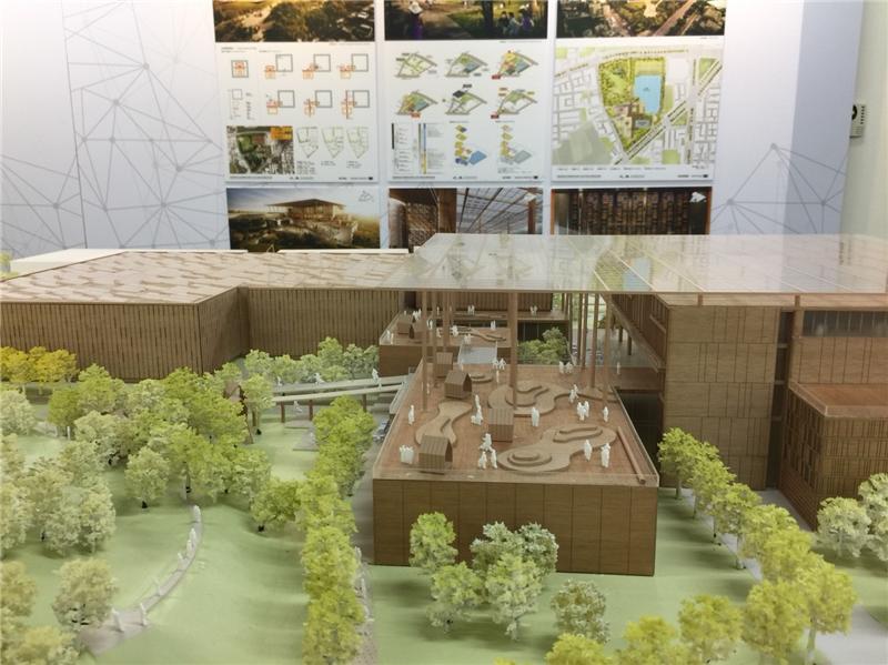 本次競圖5家優勝廠商建築模型於9月14日至21日在國家圖書館展出1