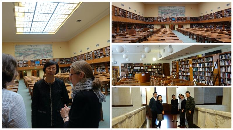 典禮開始前曾館長參觀亞捷隆大學圖書館
