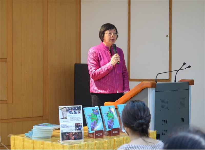 Director-General Tseng speaks at the new book event and shared her insights from reading the new publication