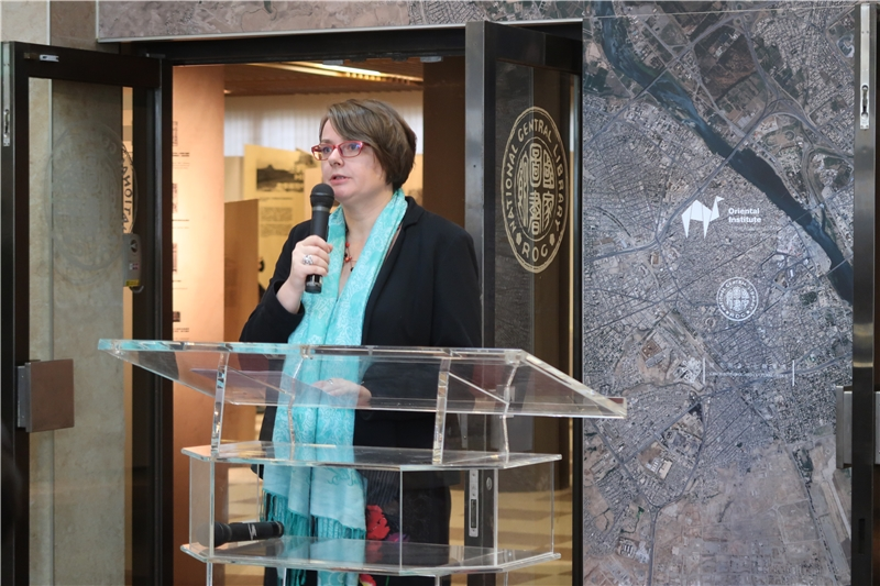 亞非研究所駐臺研究中心主任路丹妮博士擔任典禮引言及主持