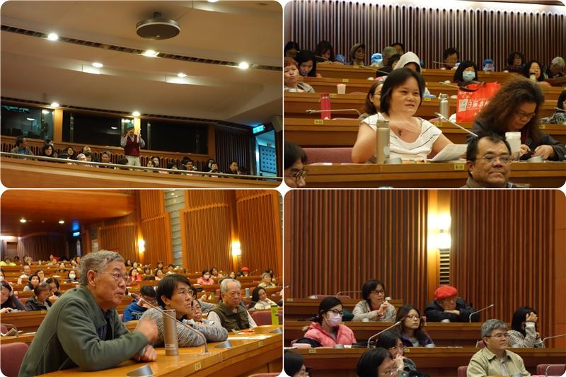 民眾熱烈提問,與徐國能教授互動、討論