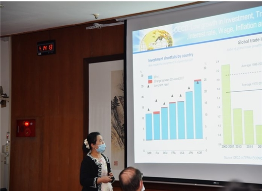 邀請中經院陳馨蕙博士講授第八次「外籍獎助學人圖書館資源利用課程」