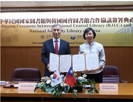 The National Central Library (NCL) of Taiwan and the National Assembly Library (NAL) of Korea sign a cooperation agreement and Memorandum of Understanding to collaborate on a combined ancient Chinese book catalogue