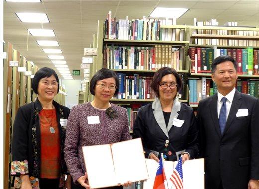 國圖與美國加州大學洛杉磯分校合作設立「臺灣漢學資源中心」