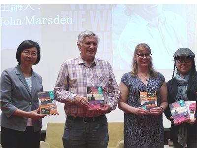 國際知名暢銷澳洲作家John Marsden(約翰.馬斯坦)國圖開講