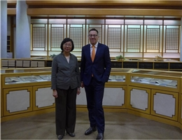 National Library of Australia's new Director of the Board, the Honourable Dr. Brett Mason, Visits the NCL
