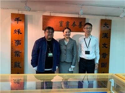 2019.12.17蒙古國家圖書館館長伊琴女士及駐台北烏蘭巴托貿易經濟代表處資深官員巴雅爾先生一行2人來館參訪