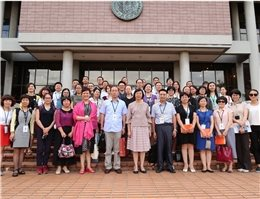 An exchange group from Mainland China for the twelfth Cross-Strait Book Fair come to visit the NCL