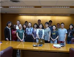 "A group of 15 students who attend ""2016 International Summer School NTU Summer +C 2 Chinese Translation and Cultural Program"" visit the NCL"