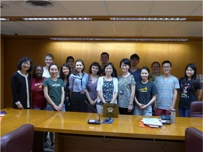 "2016-06-24 A group of 15 students who attend ""2016 International Summer School NTU Summer +C 2 Chinese Translation and Cultural Program"" visit the NCL"