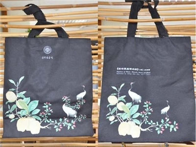 Tote bag with pictures of flowers and plants from Depictions of Metals, Minerals, Insects and Plants.